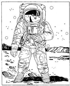 Top 10 Free Printable Astronaut Coloring Pages Online Astronauts