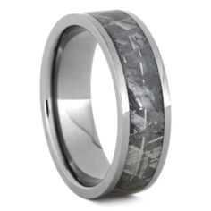 Gibeon Meteorite Wedding Band, Titanium Ring For Men, Size 9.75-RS9450
