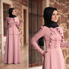 Fashion Hijab Remaja Gemuk 45 New Ideas Muslim Dress, Hijab Dress, Dress Outfits, Abaya Fashion, Fashion Wear, Fashion Dresses, Hijab Style, Hijab Chic, Moslem Fashion