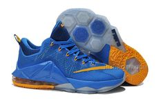 "detailed look 79757 31b93 Nike LeBron 12 Low ""Entourage"" Photo Blue University Gold-Gym Blue"