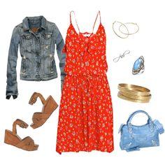 Summer Blossom Dress, created by jill-hammel on Polyvore
