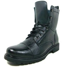 Polar Fox Men's Mid-calf Leatherette Military Lace-up Boots - Overstock Shopping - Great Deals on POLAR FOX Boots