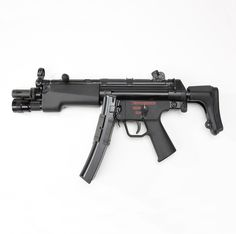 r..Heckler & Koch MP5 - First created in 1964, the H&K MP5 was developed as a pistol-caliber, blowback operated member of the H&K weapons system. It has become the first choice of the world's elite law enforcement and military units for a selective fire submachinegun. While this example is chambered for 9mm, other versions chambered for 10mm and .45 caliber cartridges are also available.