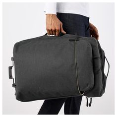 IKEA - FÖRENKLA, Carry-on bag on wheels and backpack, dark gray, Contains one small backpack that you can easily attach to the outside of the carry-on bag. Rolling Duffle Bag, Commute To Work, Kabine, Small Backpack, Carry On Bag, Travel Accessories, Luggage Bags, Travel Bags, Messenger Bag
