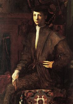 Rosso Fiorentino , circa 1526, Portrait of a Young Man Seated (Museum Capodimonte at Naples)