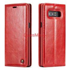 CaseMe Samsung Galaxy Note 8 Wallet Magnetic Flip Case Red