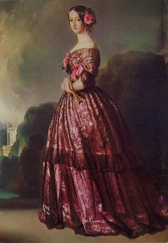 1846-1847 Princess of Joinville by Franz Xaver Winterhalter (Versailes)
