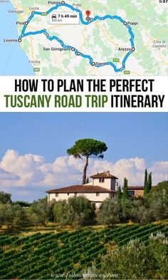 holiday trip This custom Tuscany road trip itinerary will show you the best of what this region in Italy has to offer! We help you create a memorable Tuscany vacation! Italy Destinations, Road Trip Map, Road Trip Europe, Portugal Porto, Places To Travel, Places To Visit, Italy Travel Tips, Travel Europe, Voyage Europe