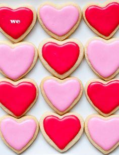 Valentine Sugar Cookies via @FoodieCrush Heidi Larsen Valentine's Day Sugar Cookies, Royal Icing Cookies, Sugar Cookies Recipe, Yummy Cookies, Cupcake Cookies, Cookie Recipes, Cupcakes, Heart Cookies, Dessert Recipes