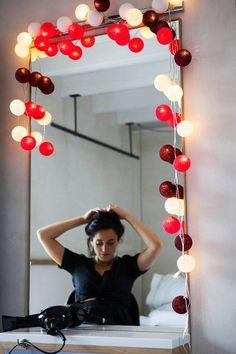 Cordão de Luz Vermelho Luminária Cormilu - 15326876 | enjoei :p