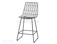 Modern Wire Kitchen Stool Black Replica Bend Stool Black