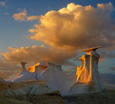 Badlands, San Juan Basin, New Mexico | The light, the clouds, the hoodoos, all of it is striking, stunning, spectacular!