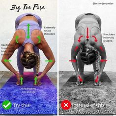 """3,190 Likes, 24 Comments - Yoga and Barre Instructor (@actionjacquelyn) on Instagram: """"✨ HOW TO DO: Big Toe Pose in Forward Fold ✨or Padangusthasana This pose will help you go deeper…"""" #YoYoYoga-PosesandRoutines"""