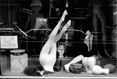 STORE WINDOW NYC, 1970's.   Erika Stone photography