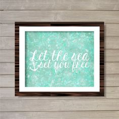 Let the Sea Set You Free Wall Art Printable 8x10 by FebruaryLane