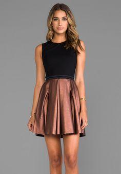 ERIN Fetherston Abby Dress in Black/Bronze
