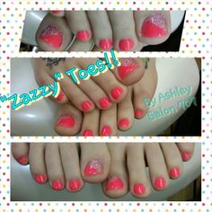 """""""Zazzy"""" Toes by Ashley at Salon 707"""