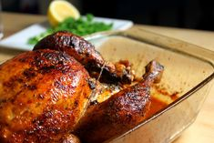 Recipe for honey baked whole chicken