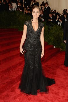Lauren Bush Lauren wears a Ralph Lauren Gown and clutch