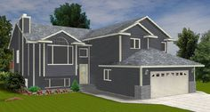 Bi-Level with With a Garage 2009436 by E-Designs
