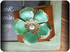 Leather Cuff Bracelet by CoccoJewelry