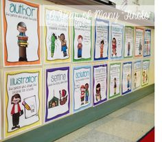 """LOVE these reading strategy posters.""""frame"""" the strategy of the week with a simple frame made out of poster board.easy way for students to know what strategy they are focusing on. Reading Strategies Posters, Reading Activities, Literacy Activities, Teaching Reading, Comprehension Posters, Guided Reading, Learning, Education And Literacy, Kindergarten Literacy"""