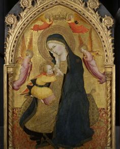 Agnolo Gaddi (c.1350–1396) was an Italian painter. He was born and died in Florence, and was the son of the painter Taddeo Gaddi.   Madonna of Humility, c. 1390, Tempera on panel, 100,5 x 60,5 cm, Rijksmuseum, Amsterdam