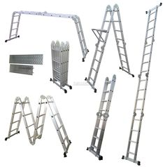 4.75M Multi Purpose Aluminium Extension Scaffold Ladder Platform Step Tray New