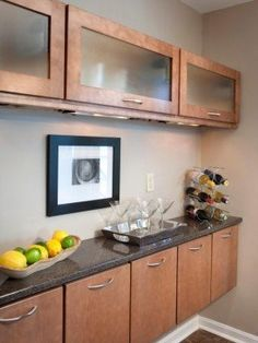 Image result for horizontal kitchen wall cabinet with glass door
