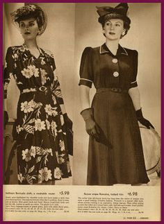 Sears 1942 edition; Love the Black Pin-tuck Frock