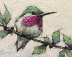 Hummingbird painting, Original oil painting of a Hummingbird, oil on panel, Hummingbirds, bird art. *Pre-Order by LaveryART on Etsy Painting & Drawing, Watercolor Paintings, Original Paintings, Original Art, Hummingbird Drawing, Hummingbird Symbolism, Hummingbird Wallpaper, Hummingbird Illustration, Hummingbird Nectar