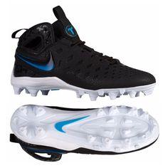 Nike Huarache V Elite Boys Lacrosse Cleat (Black/Blue Lagoon) at your online