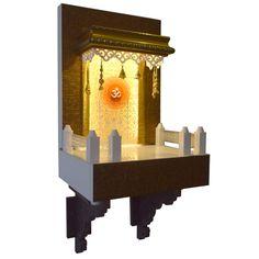 Designer Wooden Mandir 2 FT for Home & Office