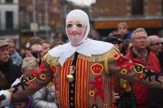 Los Guilles del Carnaval tradicional de Binche. | cc-by-nc Farrukh Carnaval en Bélgica