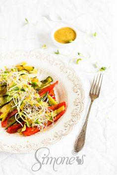 Geroosterde groentes met tahini dressing