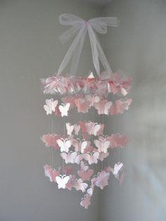 Chandelier Butterfly Mobile by LittleBoPress on Etsy, $45.00