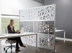 A web of elements to lighten and connect designed for the demands of the open office.