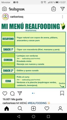 Menú realfooding Real Food Recipes, Healthy Recipes, Grocery Lists, Meal Prep, Self, Diets, Health And Nutrition, Healthy Food, Eating Clean