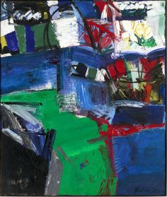 Grace Hartigan (American, 1922–2008) Shinnecock Canal 1957 Oil on canvas 7′ 6 1/2″ x 6′ 4″ (229.8 x 193 cm) The Museum of Modern Art