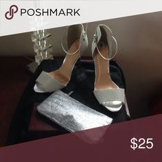 Bakers silver stunning heels , Synthetic upper man made sole ! Brand new !! Bakers Shoes Heels