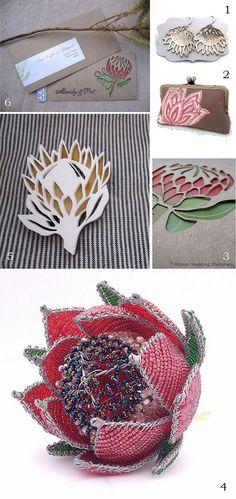 Protea inspired wedding décor