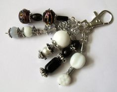 black & white handbag charms silver charms 5 by HanoverMerryMakers, £6.00