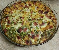 AngLeflett digs her clean Ham & Green Onion Quiche, a feast for your ...