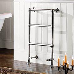 iBathUK   3 Bar Traditional Victorian Chrome Heated Towel Rail Bathroom Radiator - All Sizes: iBathUK: Amazon.co.uk: Kitchen & Home