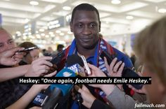 """Former Liverpool legend Emile Heskey, has announced his intentionto run for the presidencyof FIFA and replace Sepp Blatter: """"At this time under Blatter, Fifa is sinking like the Titanic. Under my leadership, it shall soar like the hindenburg."""" #FIFA #Blatter #Blatterout #emileheskey #HeskeyFifa #Leicestercity #BoltonWanders #BoltonFC #Liverpool #LiverpoolFC"""