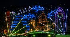 Christmas light show at Mozart's