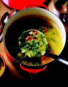 kale and potato soup.
