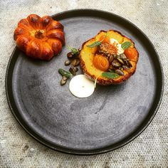 "1,831 Likes, 32 Comments - Daniel Watkins (@chefdanielwatkins) on Instagram: ""BBQ squash, smoked goats cheese, pumpkins jam, seeds, beer, butter milk inspired by @kexellkexell…"""