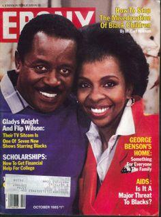 Ebony magazine, October 1985 — Flip Wilson & Gladys Knight in Charley and… Jet Magazine, Black Magazine, Life Magazine, Ebony Magazine Cover, Magazine Covers, Women In History, Black History, Flip Wilson, Gladys Knight