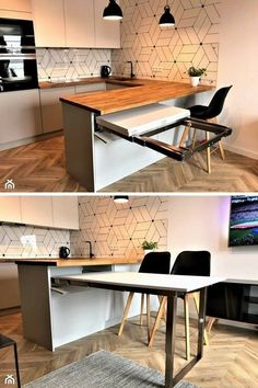 magnificient small kitchen design ideas on a budget 2 ~ Modern House Design Home Decor Kitchen, Kitchen Furniture, Home Kitchens, Kitchen Ideas, Table Furniture, Furniture Design, Modern Kitchen Design, Interior Design Kitchen, Interior Modern
